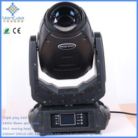 2015 new style Bar Wedding Performance Equipment 280W Beam spot wash 3in1moving head light