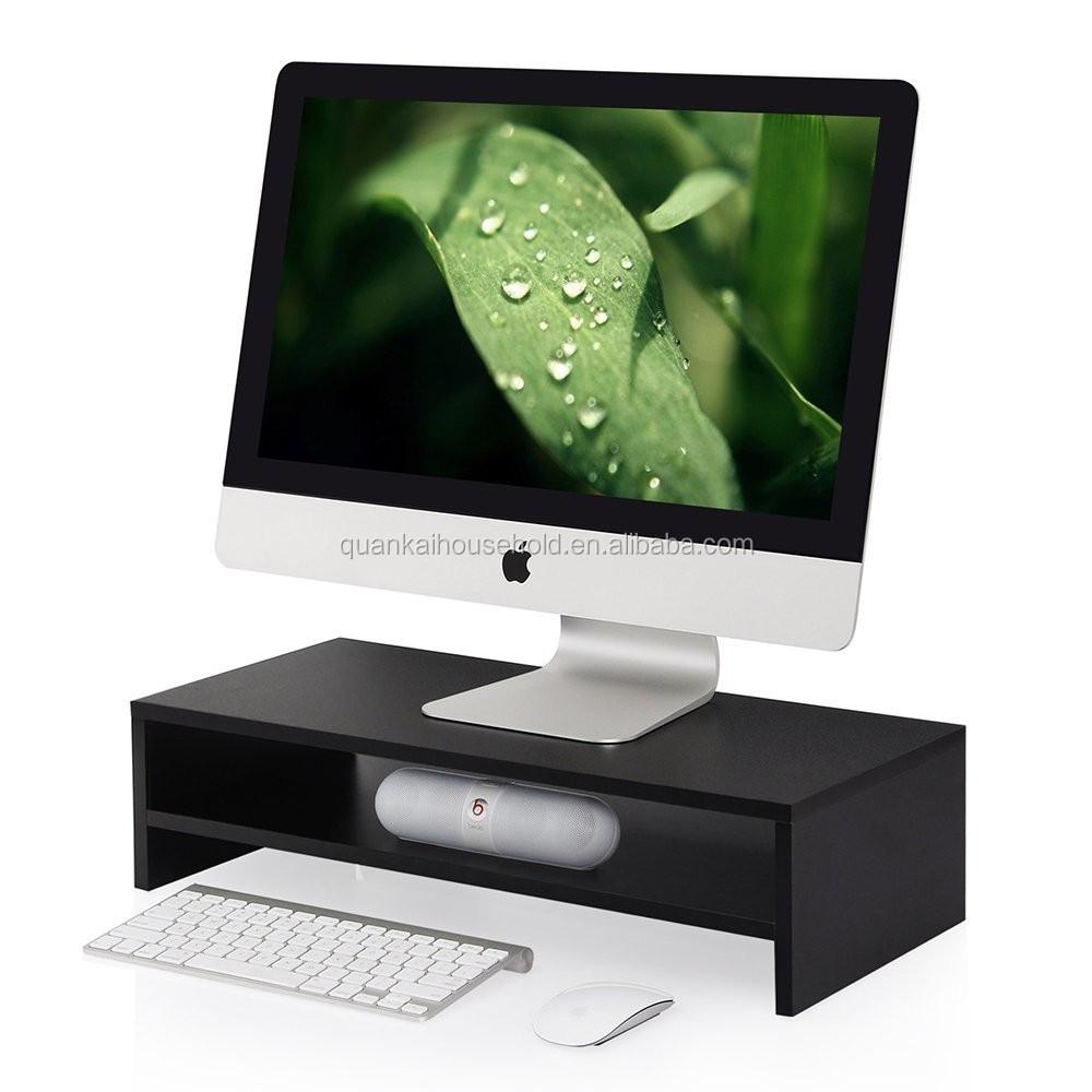 Monitor Stand Computer Riser Office Desktop Keyboard Storage Shelf With Drawer