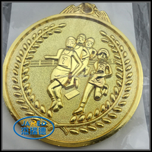 Hot Selling Wholesale Price Metal Gold Running Sports Medal with Riboon