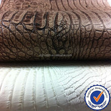 embossed crocodile pvc leather for sofa