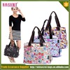 Professional custom all kinds of waterproof flower cloth bag shoulder bag/beach bag