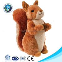 Funny custom cheap brown plush squirrel toy wholesale cute soft stuffed plush squirrel
