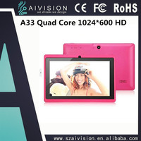 A33 Quad Core/512M+4G/Capacitive touch Screen/7 inch games tablet