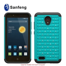 Luxuriant in design hydride waterproof cell phone case for Alcatel 7046
