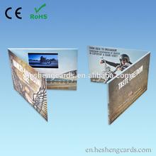 """De calidad superior 5"""" personalizados lcd video folleto tarjeta de"""