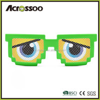 Good Quality Cheap Party Pinhole Pixel Sun glasses With CE FDA