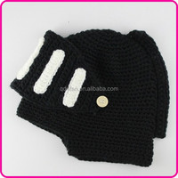 knight helmet knitted cartoon character winter cotton crochet hat