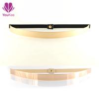 Elastic belt with gold metal mirror belt design female chastity belt video