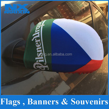 Decorative Spandex Car Mirror Cover With National Flag Designs mixed 160gsm car mirror flags