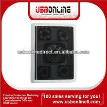 5 fan 2 USB ports cooling pad