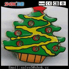 New Product China Supplier Factory Promotional LED badge/LED Flashing Badge/Christmas LED Lights For Christmas