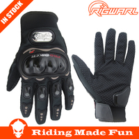 Hot Sale !! 1 Pair Black Sports Carbon Fiber Motorcycle Gloves Breathable Mesh Fabric Summer Gloves Leather