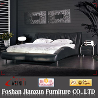 F6020 italian leather bed black leather sofa bed king size leather bed frame