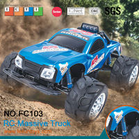 Cheap rc trucks 1 4 scale 4wd off road smart rc monster truck with lights