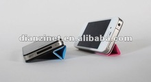 Rotation PC stand case for iphone 4