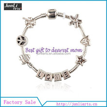 2015 European Style Charm Handmade Love Bracelet As Best Gift To Mother