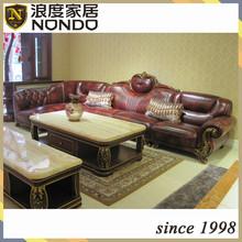 European style sofa luxury classic leather sofa AJ030