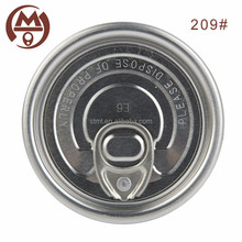 Non spill 209 embossed Full open can caps