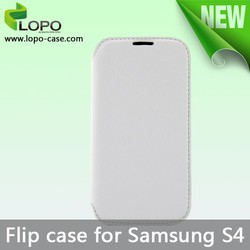 Printable sublimation white leather flip mobile phone case for Samsung GALAXY S4