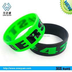 Promotional ink filled silicone bracelet,silicon wristband,slap wristband