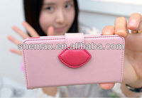 Cheap with hot selling wallet case for iphone 5 with 3D image