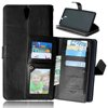 China factory hotselling magnet pc+silicon flip case cover for sony c5 case with smart stand