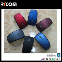 Ultra Thin USB Optical Wireless light up 2.4G Receiver Super Slim Mouse cordless For Computer PC Laptop Desktop Candy color