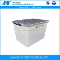 lockable multifunctional plastic storage box colorful plastic crate with wheels and handle