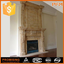 Natural stone fireplace for house decoration,hotel decoration marble fireplace