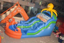 2015 Cheap inflatable octopus water slide with pool for sale