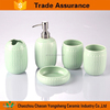 5pcs blue and white porcelain design popular bathroom accessories with two tumbler