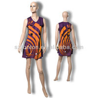 Custom made sexy netball dress