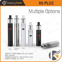 2015 newest mech mod ecig starter kit kamry x6 plus vaporizer pen fit 18650/ 18350 battery