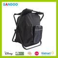 Alibaba atacado novo produto de pesca saco saco do refrigerador cadeira, preto popular mochila de pesca