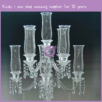 k5891antique crystal candle holders made in india