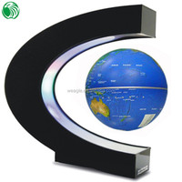 High end gift C shape base 3 inch floating globe design focus gift wrap