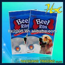 pet food packaging packing beef ribs