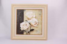 White rose flower oil painting