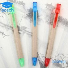 Recycle ballpoint pen/ball pen with custom logo/Eco friendly paper Pen