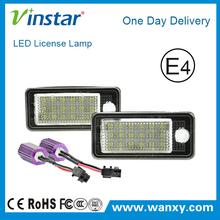 LED canbus license plate lamp canbus led registration light for Audi A3 8P/A6 4F/A4 B6 B7/Q7 TDI