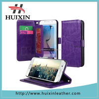 Wholesale new design card slot mobile phone leather case , for samsung galaxy s6 leather wallet