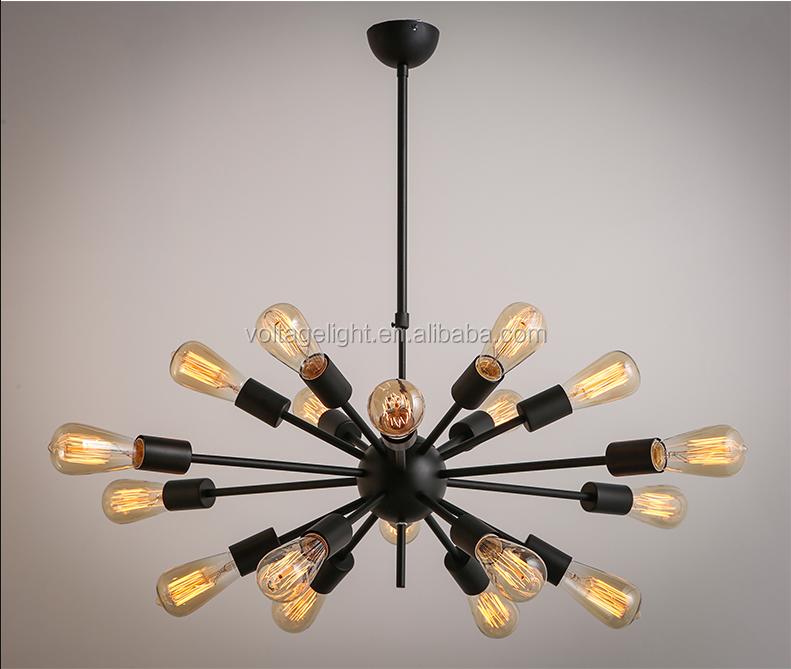 moderne d coration pendaison lampe edison ampoules lustre noir brun rouill couleur forg. Black Bedroom Furniture Sets. Home Design Ideas