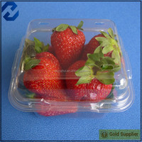 Disposable plastic clear transparent strawberry packaging container