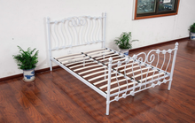 hot sale! cheap ikea metal single bed, bedroom furniture,steel/iron mesh home bed set(MB-74)