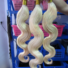 No Tangle No Shedding Human Hair Extension Body Weave 7A Remy Hair Color 613