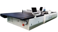 multi ply fabric knife cutting machine computerized apparel home textile curtains cutting facility