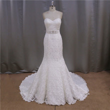 Fashion product promotion tank top a line wedding dress with cathedral train