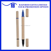 Hot selling top quality eco-friendly 2 sides recycled paper ball pen for promotion