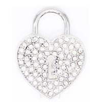Silver heart lock shape Pen drive