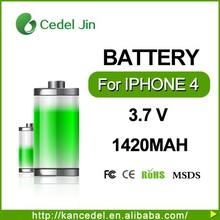 battery for iphone 4,4g ,3.7v mobile phone battery